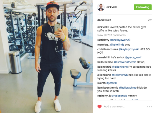 nick viall gym