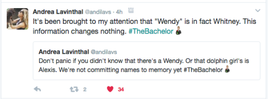 the bachelor tweets