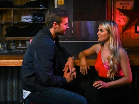 peter and demi at the bar the bachelor group date